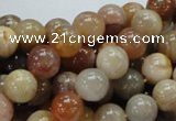 CAG764 15.5 inches 10mm round yellow agate gemstone beads wholesale