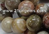 CAG768 15.5 inches 18mm round yellow agate gemstone beads wholesale