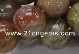 CAG769 15.5 inches 20mm round yellow agate gemstone beads wholesale