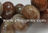 CAG772 15.5 inches 14*20mm rondelle yellow agate gemstone beads