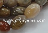 CAG773 15.5 inches 13*19mm rice yellow agate gemstone beads
