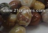 CAG774 15.5 inches 16*21mm rice yellow agate gemstone beads