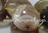 CAG779 15.5 inches 30mm flat round yellow agate gemstone beads