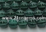 CAG8005 15.5 inches 8mm carved round green agate beads