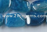 CAG8504 15.5 inches 15*20mm - 18*25mm freeform dragon veins agate beads