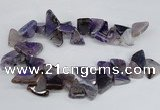 CAG8541 Top drilled 15*20mm - 25*30mm freeform dragon veins agate beads