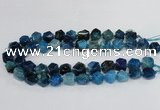 CAG8554 12*14mm - 14*15mm faceted nuggets dragon veins agate beads