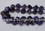 CAG8573 15.5 inches 15*16mm - 17*18mm cube dragon veins agate beads