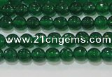 CAG8582 15.5 inches 6mm faceted round green agate gemstone beads
