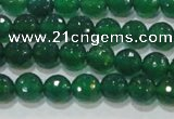 CAG8583 15.5 inches 8mm faceted round green agate gemstone beads