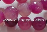 CAG864 15.5 inches 14mm faceted round agate gemstone beads