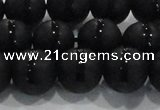 CAG8677 15.5 inches 10mm round matte tibetan agate gemstone beads