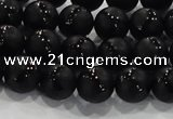 CAG8680 15.5 inches 6mm round matte tibetan agate gemstone beads