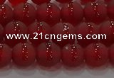 CAG8901 15.5 inches 6mm round matte red agate beads wholesale