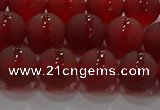 CAG8902 15.5 inches 8mm round matte red agate beads wholesale