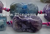 CAG9070 15.5 inches 16*30mm peanut-shaped fire crackle agate beads