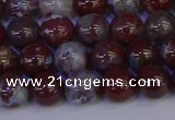 CAG9122 15.5 inches 8mm round red lightning agate beads
