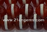 CAG9144 15.5 inches 14mm round tibetan agate beads wholesale