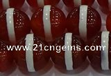 CAG9145 15.5 inches 16mm round tibetan agate beads wholesale
