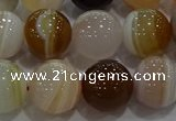 CAG9159 15.5 inches 14mm round line agate beads wholesale