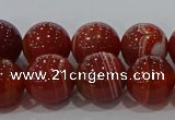 CAG9179 15.5 inches 10mm round line agate beads wholesale