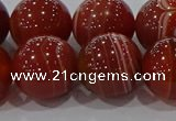 CAG9182 15.5 inches 16mm round line agate beads wholesale