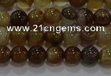 CAG9193 15.5 inches 6mm round line agate gemstone beads