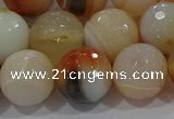 CAG9225 15.5 inches 14mm faceted round line agate beads wholesale