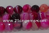 CAG9240 15.5 inches 6mm faceted round line agate beads wholesale