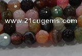 CAG9249 15.5 inches 6mm faceted round line agate beads wholesale