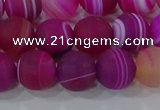 CAG9328 15.5 inches 10mm round matte line agate beads wholesale