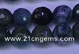 CAG9364 15.5 inches 12mm faceted round moss agate beads wholesale