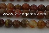 CAG9391 15.5 inches 6mm round red moss agate beads wholesale