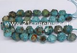 CAG9410 15.5 inches 18*20mm - 20*22mm faceted nuggets ocean agate beads