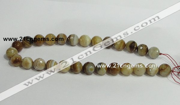 CAG948 16 inches 14mm faceted round madagascar agate gemstone beads