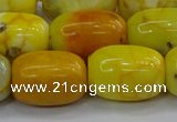 CAG9541 15.5 inches 13*18mm drum dragon veins agate beads