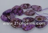 CAG9555 15.5 inches 40*50mm - 40*55mm freeform ocean agate beads