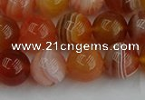 CAG9563 15.5 inches 10mm round red botswana agate gemstone beads