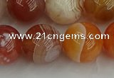 CAG9565 15.5 inches 14mm round red botswana agate gemstone beads