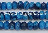 CAG9578 15.5 inches 4*6mm faceted rondelle crazy lace agate beads