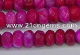 CAG9590 15.5 inches 5*8mm faceted rondelle crazy lace agate beads