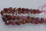 CAG9615 15.5 inches 10*12mm - 20*25mm faceted nuggets ocean agate beads