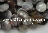 CAG978 15.5 inches 16mm faceted coin botswana agate beads wholesale