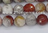 CAG9862 15.5 inches 8mm faceted round Mexican crazy lace agate beads