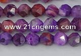 CAG9945 15.5 inches 6mm faceted nuggets purple crazy lace agate beads