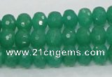 CAJ09 15.5 inches 7*10mm faceted rondelle green aventurine jade beads