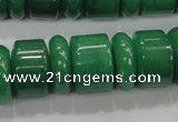 CAJ12 15.5 inches 6*18mm & 12*18mm rondelle green aventurine beads