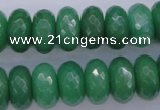 CAJ18 15.5 inches 8*16mm faceted rondelle green aventurine beads