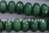 CAJ19 15.5 inches 9*18mm faceted rondelle green aventurine beads