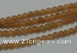 CAJ350 15.5 inches 4mm round red aventurine beads wholesale